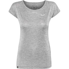 SALEWA Puez Melange Dry Bluzka z krótkim rękawem Kobiety, quiet shade melange
